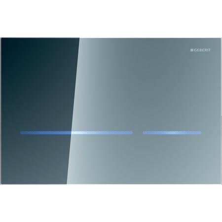 Krmiljenje WC-ja z elektronskim aktiviranjem splakovanja Geberit, omrežno delovanje, dvokoličinsko splakovanje, aktivirna tipka Sigma80, brez dotika, zrcalno steklo, Sigma 12 cm