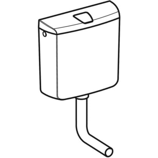 Nadometni splakovalnik Geberit AP110, start/stop splakovanje