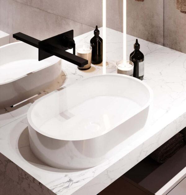 Nadpultni kopalniški umivalnik Sorrento