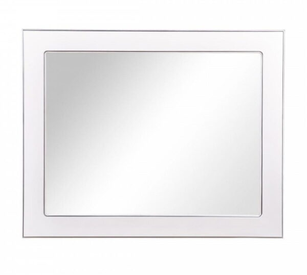Kopalniško ogledalo Beatriče 100 belo krom