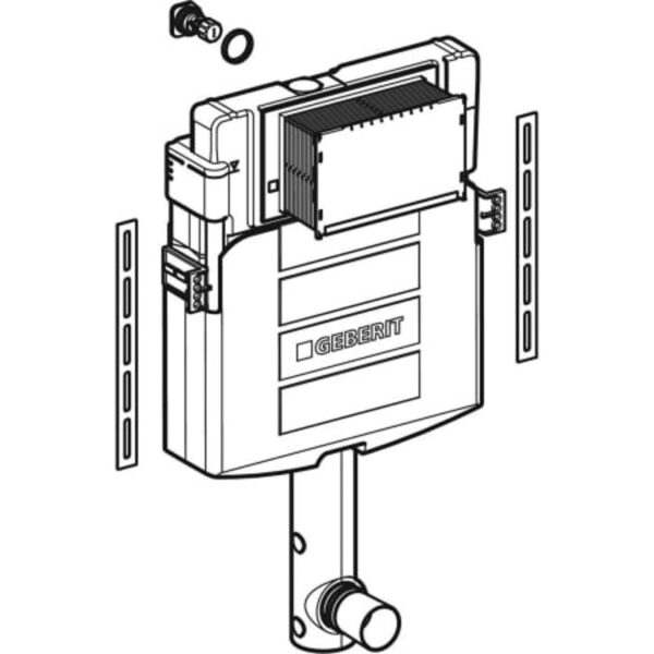 Podometni splakovalnik Geberit Sigma 12 cm