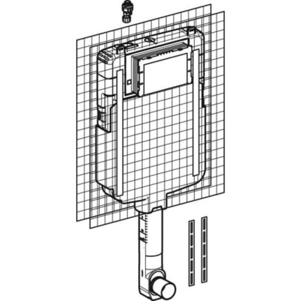 Podometni splakovalnik Geberit Sigma 8 cm, 6 in3 l