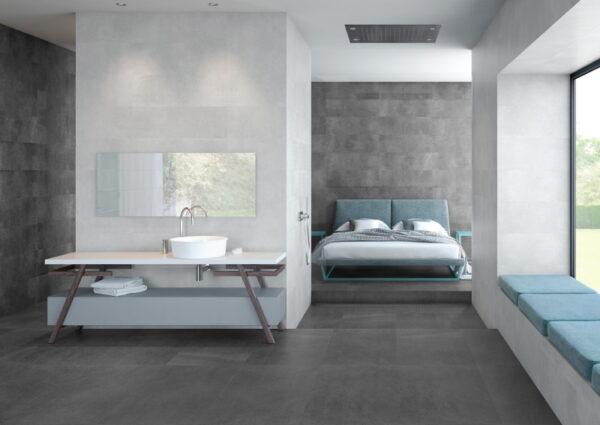 Stenska keramična ploščica Trapani Graphite 300x900