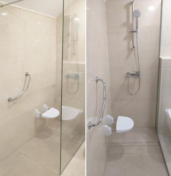 Izris kopalnice za invalide in starejše ljudi
