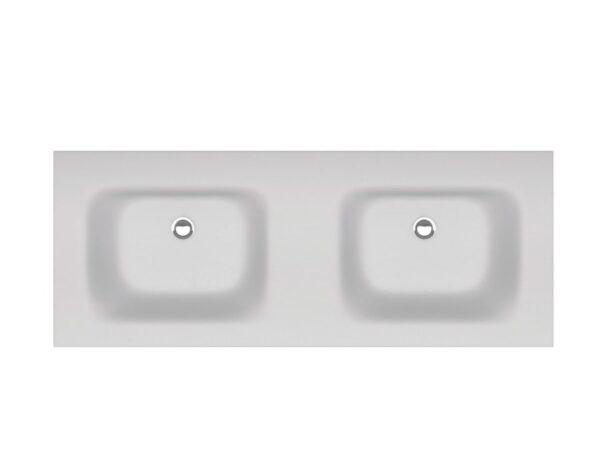 Nadpultni kopalniski umivalnik Eloise 120 dvojni 1
