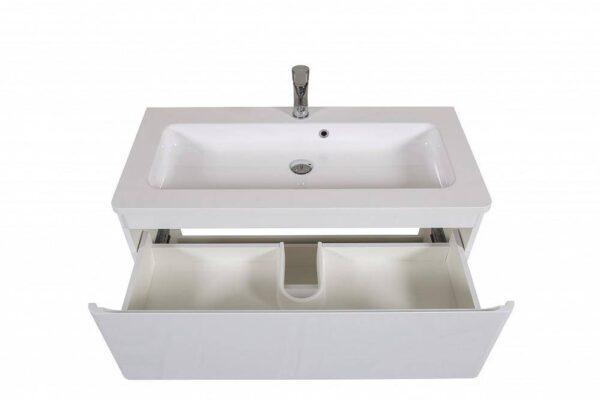 Omarica z umivalnikom Akcent 100 bela talna 3