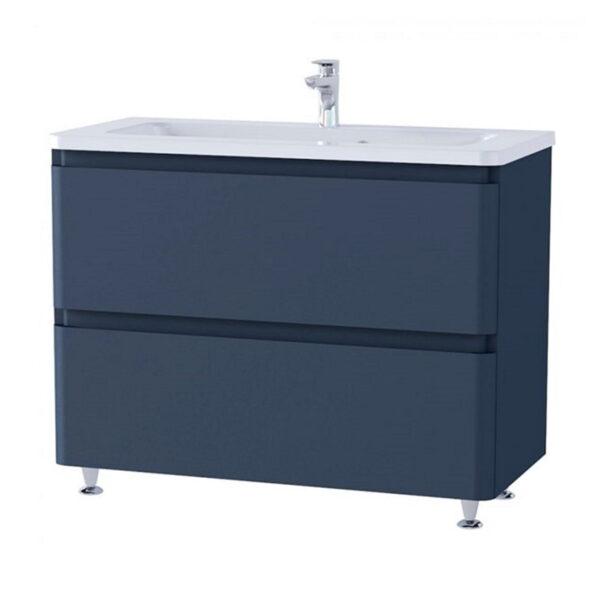 Omarica z umivalnikom Akcent 100 modra mat talna