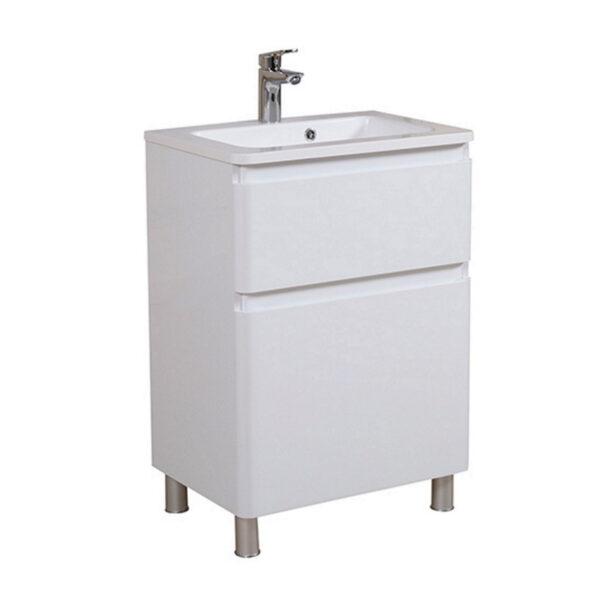 Omarica z umivalnikom Akcent 70 bela talna