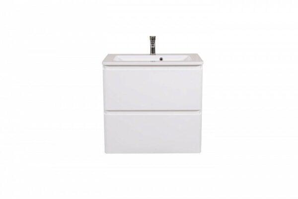 Omarica z umivalnikom Akcent 80 bela stenska 1