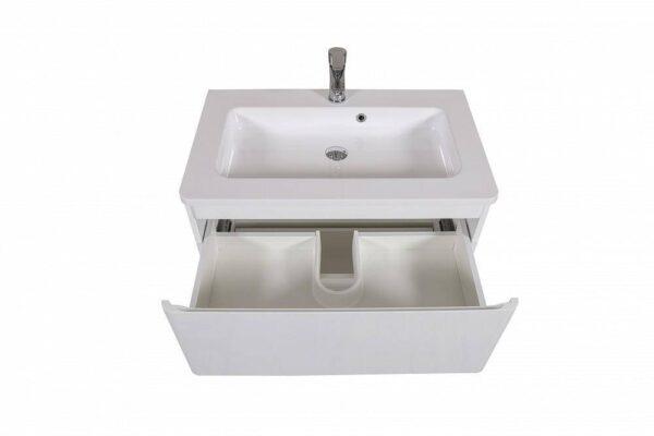 Omarica z umivalnikom Akcent 80 bela stenska 3