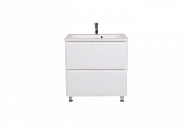 Omarica z umivalnikom Akcent 80 bela talna 5