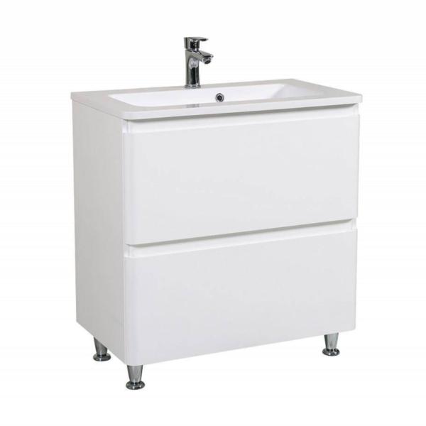 Omarica z umivalnikom Akcent 80 bela talna