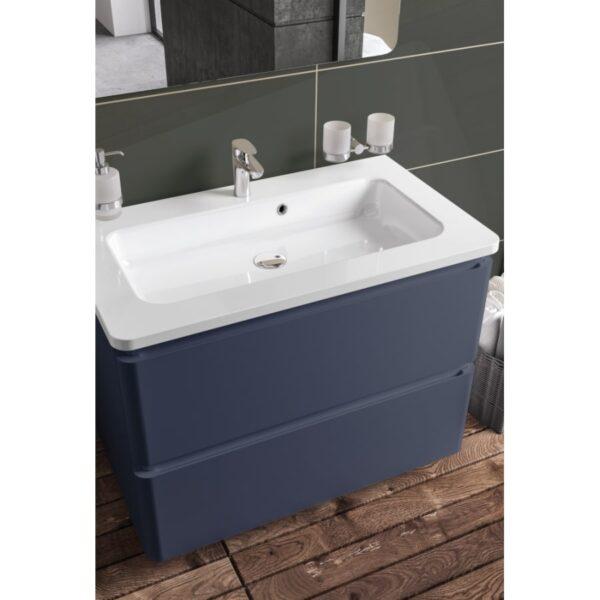 Omarica z umivalnikom Akcent 80 modra mat talna 2