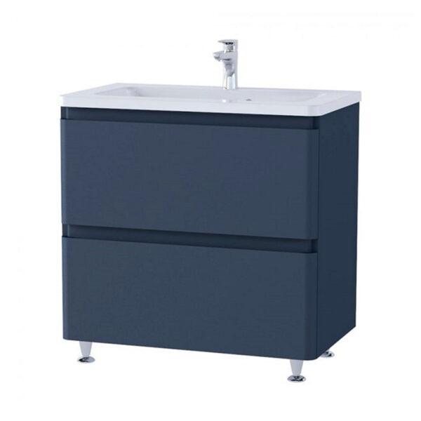 Omarica z umivalnikom Akcent 80 modra mat talna