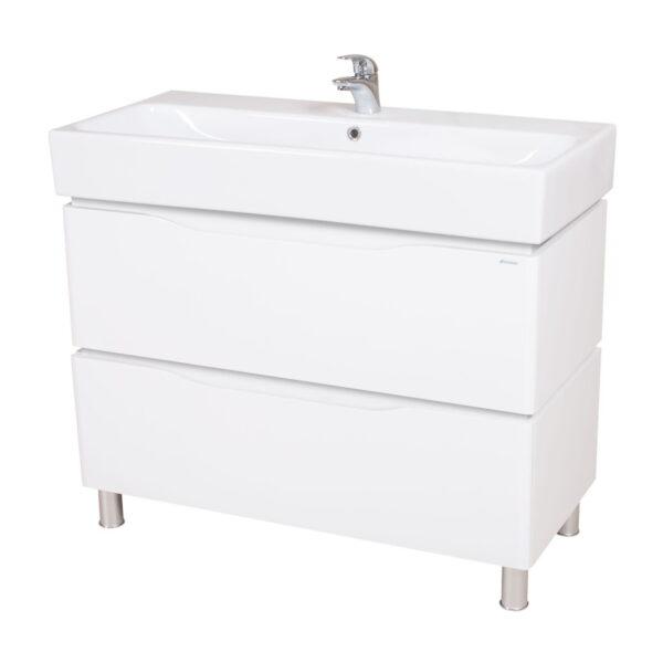 Omarica z umivalnikom Venice 100 bela talna