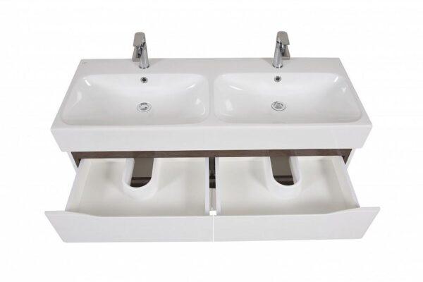 Omarica z umivalnikom Venice 120 wenge stenska dvojni umivalnik 3