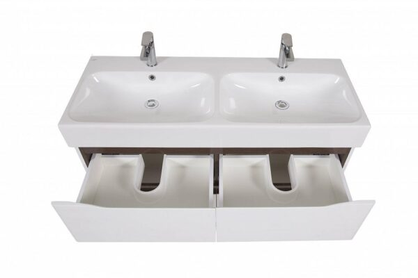 Omarica z umivanikom Venice 120 wenge talna dvojni umivalnik 2