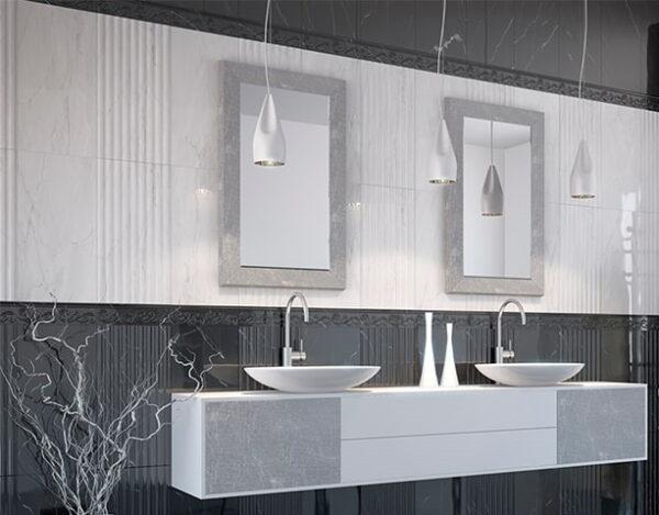 Stenske keramicne ploscice Absolut Modern Bela Linije 300x600 2