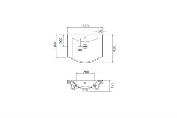 Umivalnik Basic 551