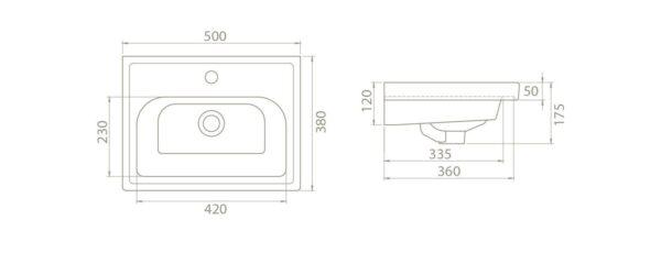 Umivalnik Frame 502