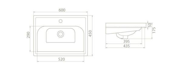 Umivalnik Frame 60 3