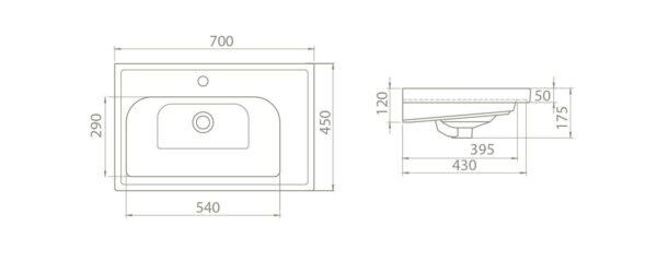 Umivalnik Frame 70 2