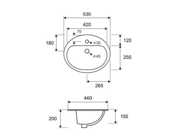 Umivalnik LT 6001 1