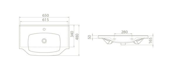 Umivalnik New Klasik 65 2