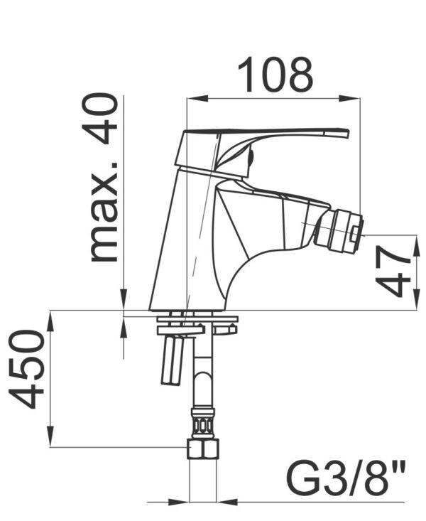 Armatura za bide Project m50 1