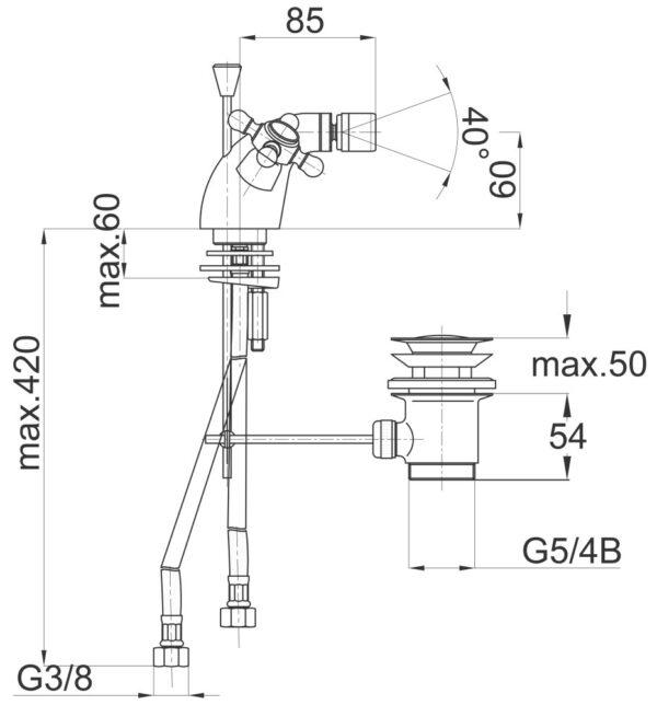 Armatura za bide Stil z50 1