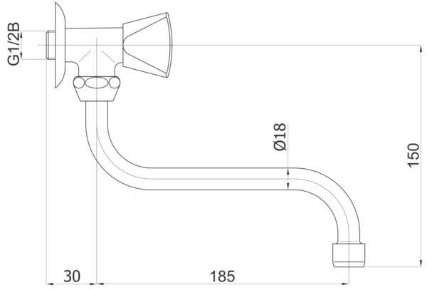 Armatura za umivalnik Classic c06 1