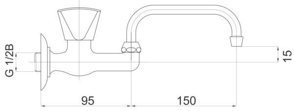 Armatura za umivalnik Classic c08 1