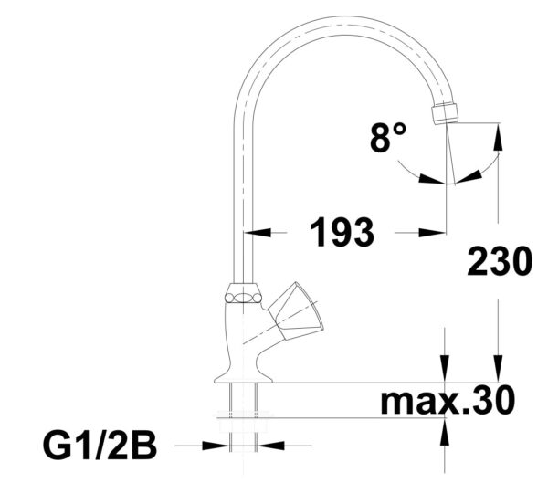 Armatura za umivalnik Classic c12 1