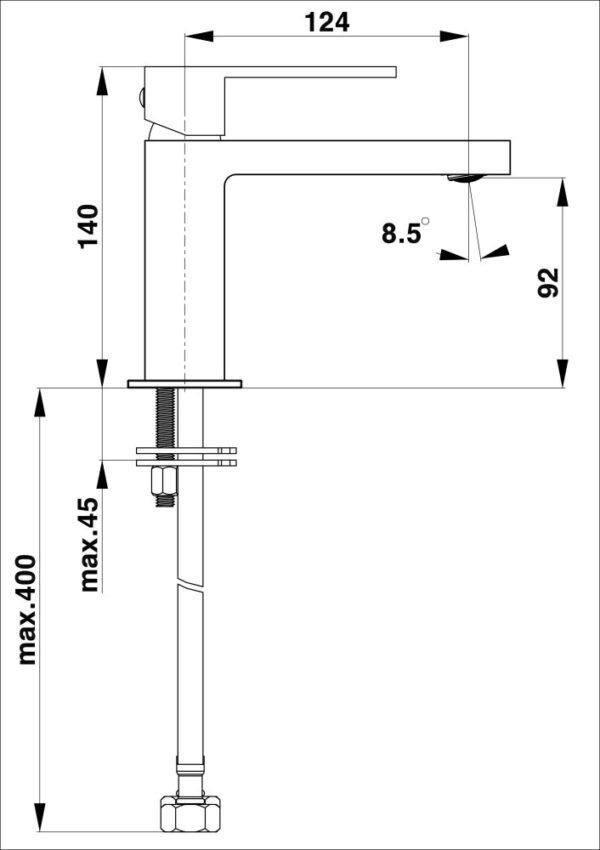 Armatura za umivalnik SQ q10B 1
