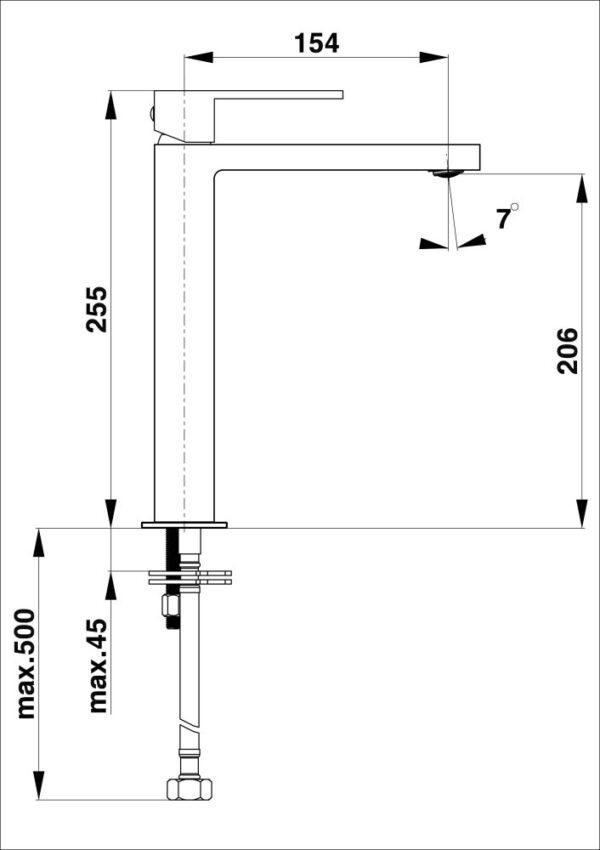 Armatura za umivalnik SQ q12B 1