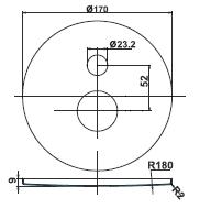 Rozeta in rocka za vgradno baterijo za kad ali dva tusa Project 12252 1