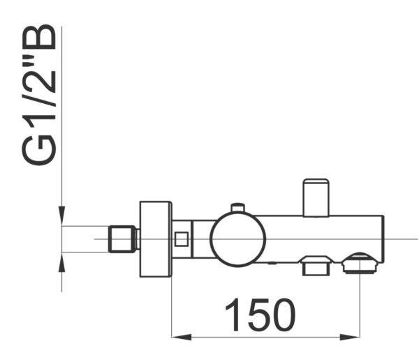 Termostatska armatura za kad Fresh t30 1