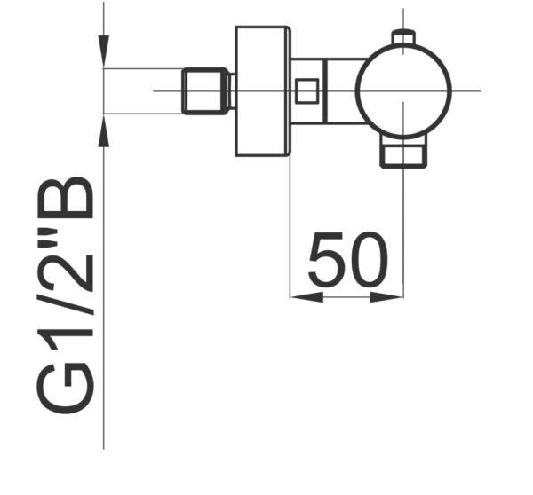 Termostatska armatura za prho Fresh t40 1
