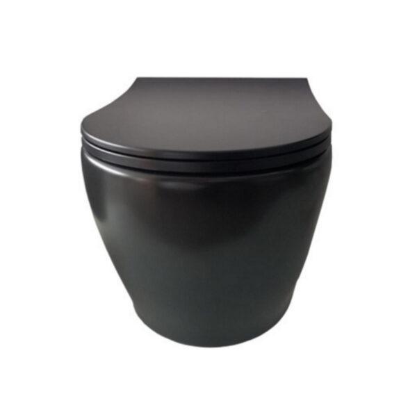 WC skoljka Rondo Rimless crna mat