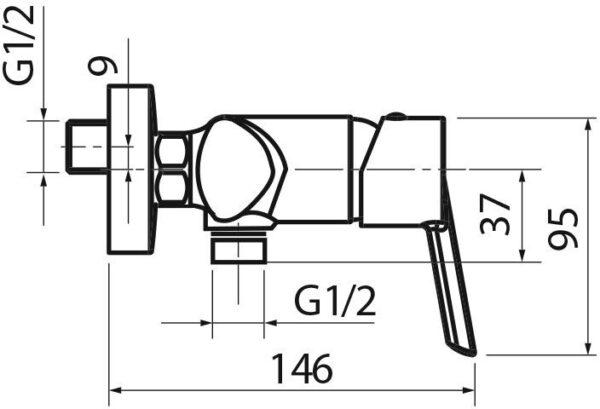 Armatura za prho Voxort Glem 1