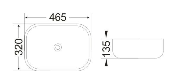 Umivalnik Concepto Bell 465 1 1
