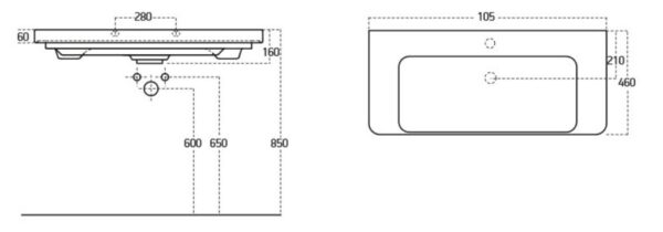 Umivalnik Concepto Glam 105 4