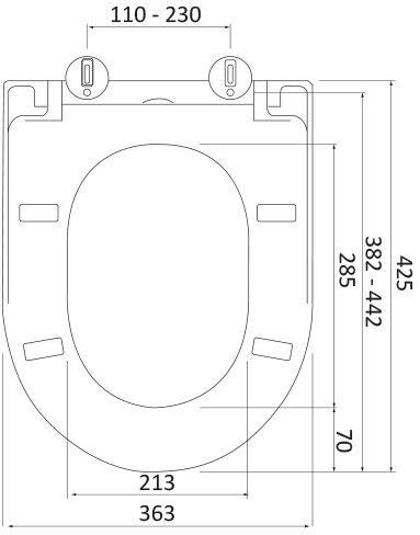WC deska Voxort Smart Flat 3