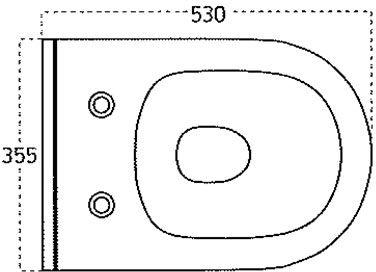 WC skoljka Concepto Brilla rimless viseca 4