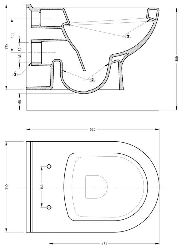 WC skoljka Concepto Sunny viseca 4