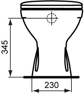 WC skoljka Dolomite Quarzo stojeca 5