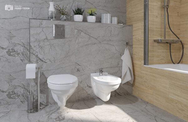 WC skoljka Dolomite Quarzo viseca 1