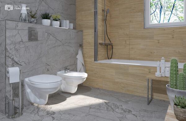 WC skoljka Dolomite Quarzo viseca 2