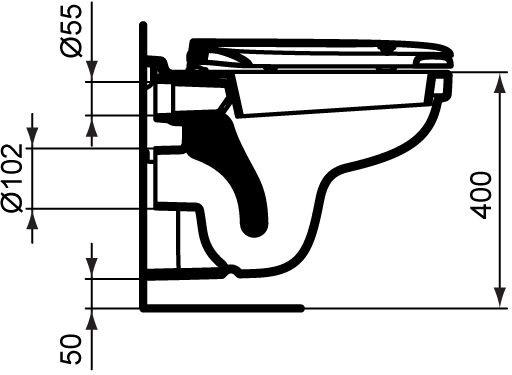 WC skoljka Dolomite Quarzo viseca 4