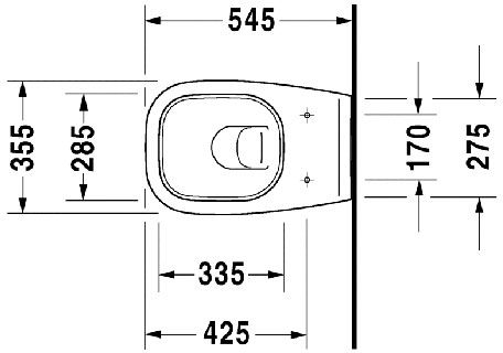 WC skoljka Duravit D code viseca 1